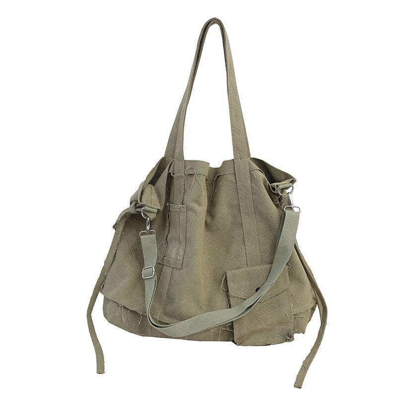 FETTY Vintage Multi-Purpose Tote Bag-100002856-The Canvas Bag™-Army Green-(30cm<Max Length<50cm)-The Canvas Bag™
