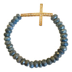 Blue Chrysocolla with Cross Detail