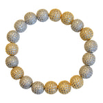 Micropave Beaded Bracelet