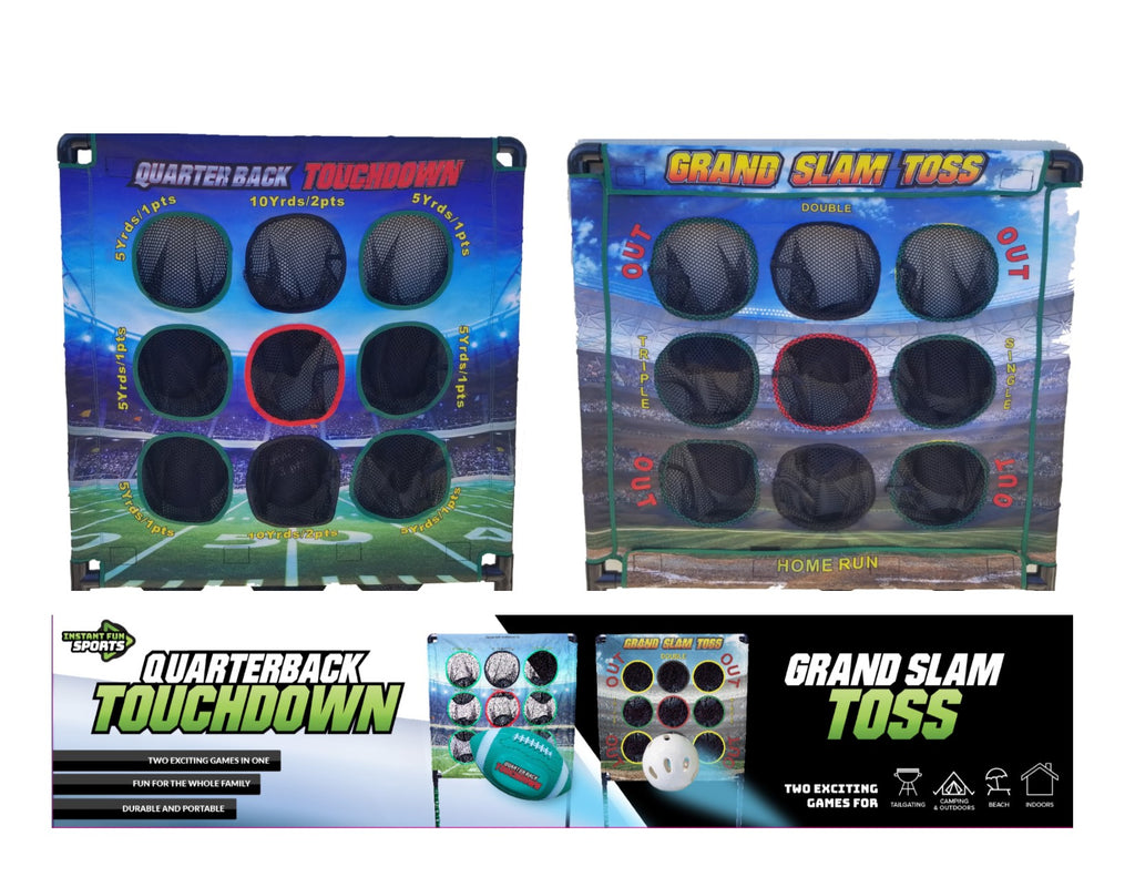 Quarterback Touchdown / Grand Slam Toss - Indoor / Outdoor Football & Baseball Combo Set