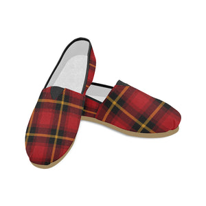 Gingham Plaid Canvas Slip-On Loafers Casual Canvas Women's Shoes
