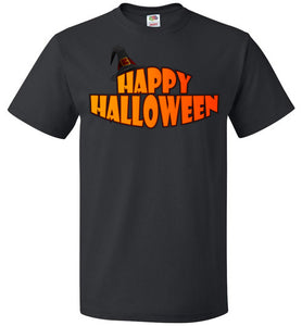 Plus Size Happy Halloween 100% Cotton Unisex Tee - Fruit Of The Loom