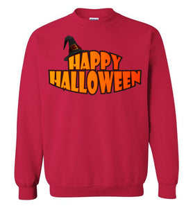 Plus Size Happy Halloween Unisex Sweatshirt - Gildan