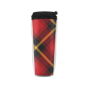 Gingham Plaid Insulated Coffee Tumbler Mug With Lid 12oz