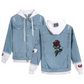 Designer Smoky Rose Women's Distressed Hip Hop Style Denim Jean Jacket