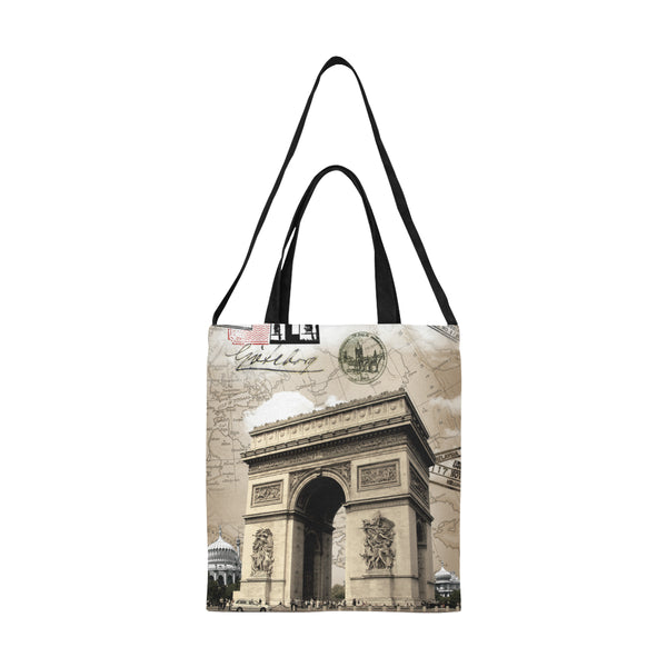 Paris Art Nouveau Chic Large Canvas Tote Bag All Over Print Canvas Tote Bag(Model1698)(Medium)