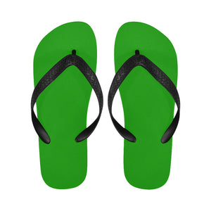 Women's Designer Bright Green Flip Flops