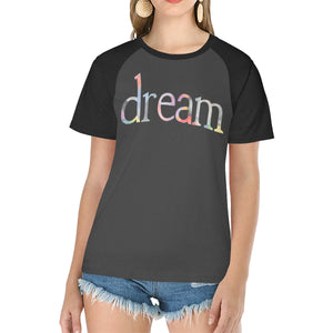 Dream In Color Women's Plus Size Raglan T-Shirt