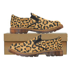Women's Oxford Loafers In Leopard Print Quality Fashion Slip-On