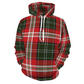Designer Christmas Plaid Thick Warm Hoodie Sweatshirt - Do Not Take Your Normal Size - Sized Small