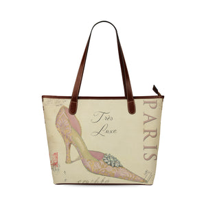 Paris Vintage Art Nouveau Trex Luxe Handbag Shoulder Tote Bag