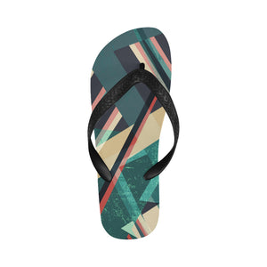 Women's Designer Teal Colorblock Flip Flops