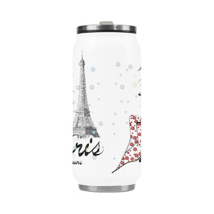 Eiffel Tower Paris Toujours Fashion Insulated Stainless Steel Tumbler Mug 13.7oz.