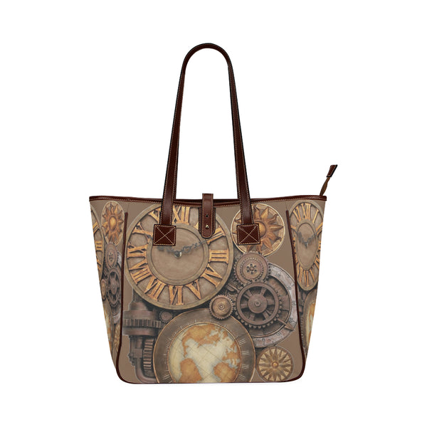 Steampunk Clock Style Waterproof Classic Shopping Tote Bag