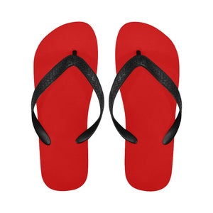Women's Designer Red Flip Flops