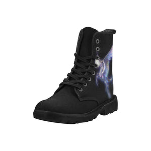 Women's Unicorn Moon Combat Boots - Durable Quality Hiking Boots