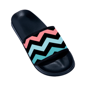 Women's Designer Chevron Designed Slides Flip Flops - Slippers