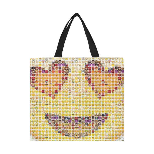 Emoji Smiley Collage Large Capacity Canvas Tote Bag - Beach Bag
