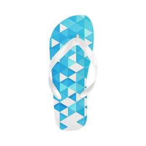 Women's Designer Blue Diamond Flip Flops
