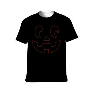 Designer Fashion Subtle Jack O Lantern Soft Poly T-Shirt - Unisex