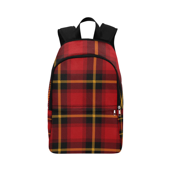 Gingham Red Plaid Large Capacity Waterproof Nylon Backpack