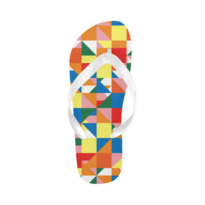 Women's Designer Abstract Yellow Flip Flops