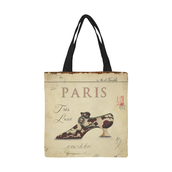 Paris Vintage Art Nouveau Tres Luxe Canvas Shopping Tote Bag - Medium