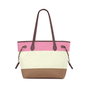 Designer Neapolitan Ice Cream Genuine High Grade Waterproof Shopping Tote Handbag