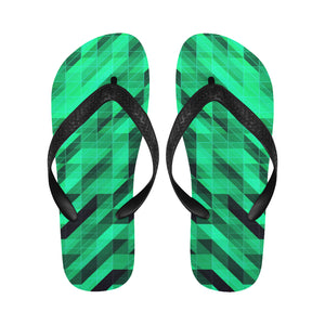 Designer Green Diamond Women's Flip Flops