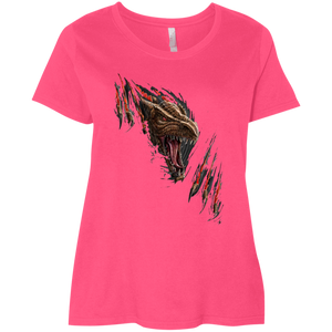 Plus Size Curvy Fierce Dragon Tee - LAT