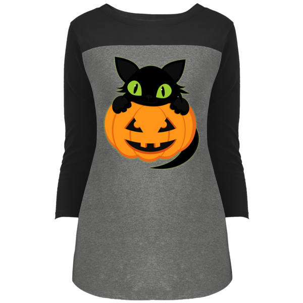 Plus Size Halloween District Juniors' Rally 3/4 Sleeve T-Shirt