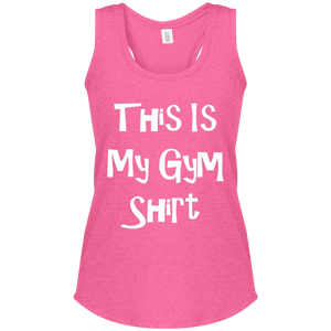 This Is My Gym Shirt - District Women's Perfect Tri Racerback Tank
