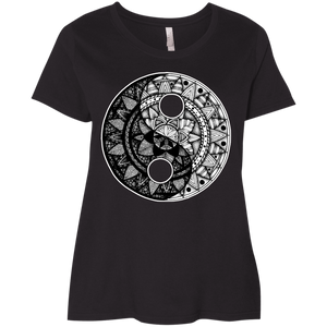 Plus Size Intricate & Beautiful Yin Yang Ladies' High Quality Curvy T-Shirt - LAT