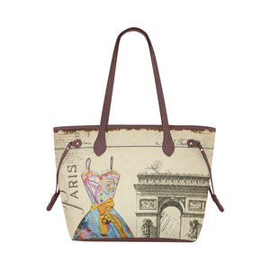 Paris Vintage Art Nouveau Water Resistant Large Capacity Tote Bag