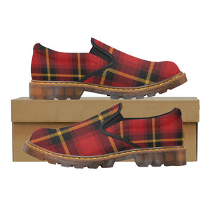 Women's Gingham Plaid Slip On High Grade Oxford Loafers Shoes