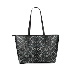 Alligator Skin Pattern PU Leather Shoulder Tote Handbag