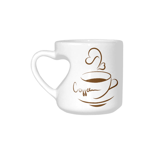Coffee Lover Coffee Mug With Unique Heart Shape Handle 10oz