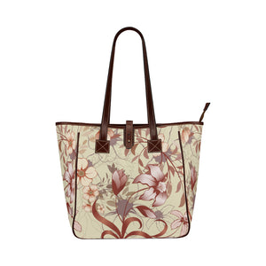 Euromerican Vintage Floral Design Waterproof Tote Bag Handbag