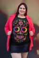 Plus Size T-Shirt Rainbow Sugar Skull Unique Design In Hard-To-Find Colors