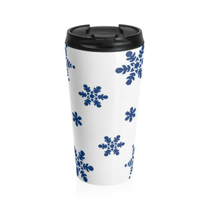 Winter Snowflake Insulated Stainless Steel Travel Mug - 15oz