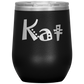 Personalized Joker Style Insulated Stainless Steel Wine Tumbler With Lid And Powder Finish