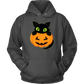 Halloween 2020 - Plus Size Halloween Gildan Cotton Poly Hoodie - Cute Kitten & Pumpkin