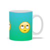 Emoji Eye Rolling Ceramic Coffee Mug 11 oz and 15 oz