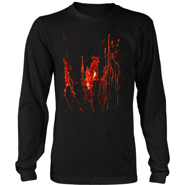 Plus Size Halloween Tee With Blood Splatter Design Front & Back