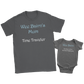 Gray-Scottish Outlander Matching Mom And Baby Pure Cotton Tees - Wee Bairn & Wee Bairn's Mum