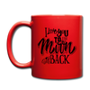 I Love You To The Moon And Back Full Color Red Coffee Mug - 11oz