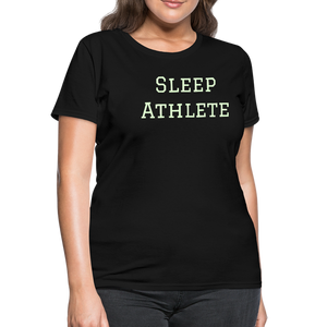 Glow In The Dark Sleep Athlete Plus Size Women's T-Shirt 100% Cotton