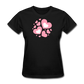 Plus Size Cotton T-Shirt With Bursting Valentine's Day Hearts - black