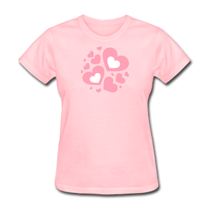 Plus Size Cotton T-Shirt With Bursting Valentine's Day Hearts - Fruit Of The Loom