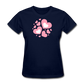 Plus Size Cotton T-Shirt With Bursting Valentine's Day Hearts - navy